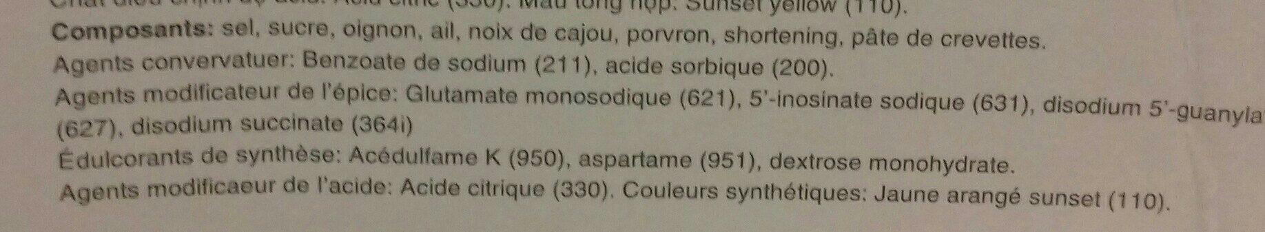 Bouillon pour bun bon hue - Ingrediënten - fr