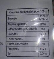 Champignons Noirs - Voedingswaarden - fr