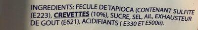 Chips à Cuire Goã»t Crevettes 1 KG - Ingrediënten