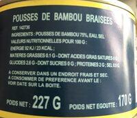 Pousses de bambou braisees - Ingredients