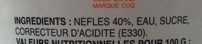 Nefles au sirop - Ingredienti - fr