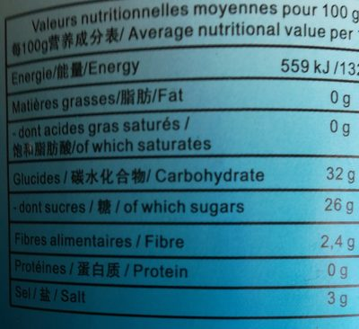 Pickles d'Échalotes - Informations nutritionnelles