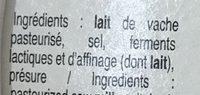 Saveur d'Antan (20% MG) - Ingrédients - fr