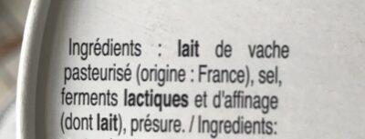 Coulommiers - Ingrédients - fr