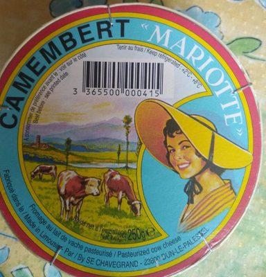 Camembert  ♦ Mariotte - Produit