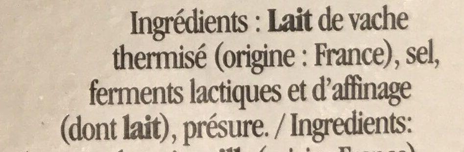 Camembert de Caractère (25% MG) - Ingrédients