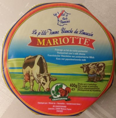 La p'tite tomme blanche du Limousin - Produit - fr