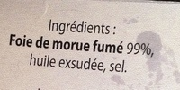 Foie de morue - finement fumé - Ingredients - fr