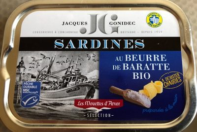 Sardines au Beurre de Baratte Bio - Produit - fr