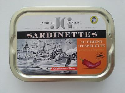 Sardinettes au piment d'Espelette - Product