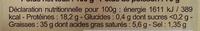 Sardinettes au piment d'Espelette - Nutrition facts