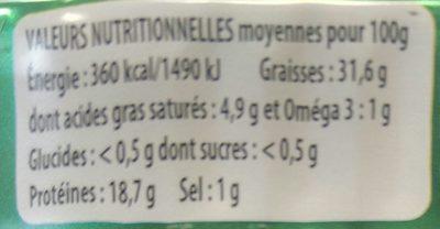 Sardines à l'Huile d'Olive - Voedingswaarden - fr
