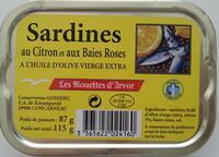 Sardines au citron et aux baies roses - Product