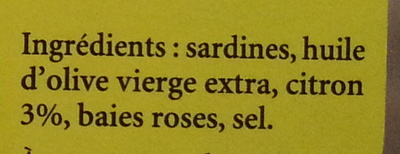 Sardines au citron et aux baies roses - Ingrediënten