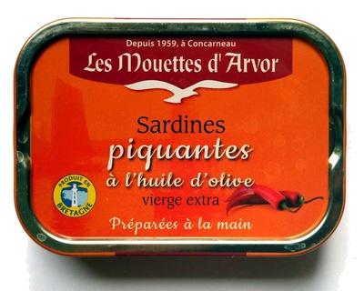 Sardines piquantes à l'huile d'olive vierge extra - Produit - fr