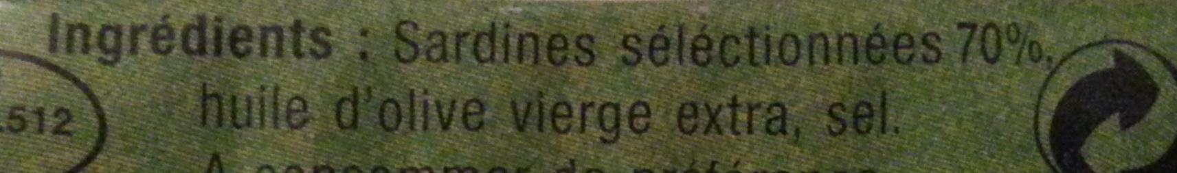 Sardinettes - Ingrediënten