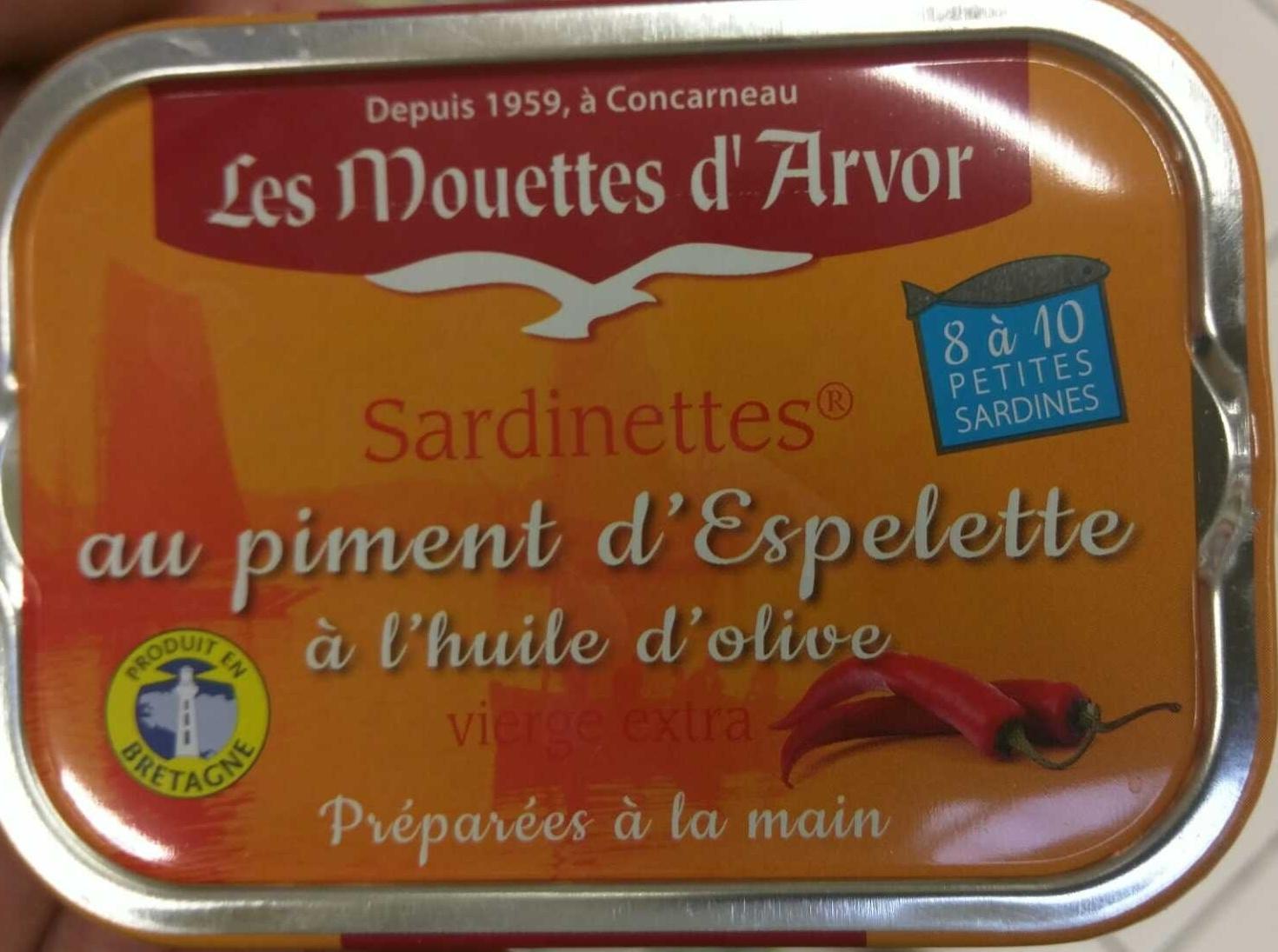 Sardinettes ® au piment d'Espelette à l'huile d'olive - Product - fr