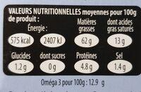 Foie de morue - Informations nutritionnelles - fr