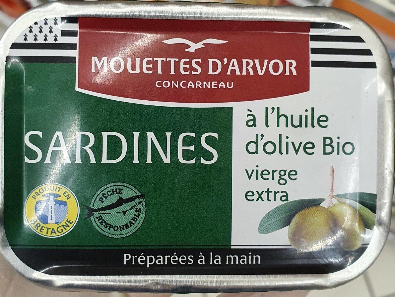 Sardines à l'huile d'olive Bio vierge extra - Produit - fr