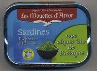 Sardines aux algues Bio de Bretagne - Product