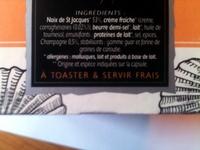 Mousse aux St Jacques aromatisée au Champagne - Ingrediënten - fr