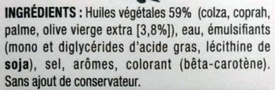 Tournolive (100 % Végétal) (60 % MG) - Ingredients