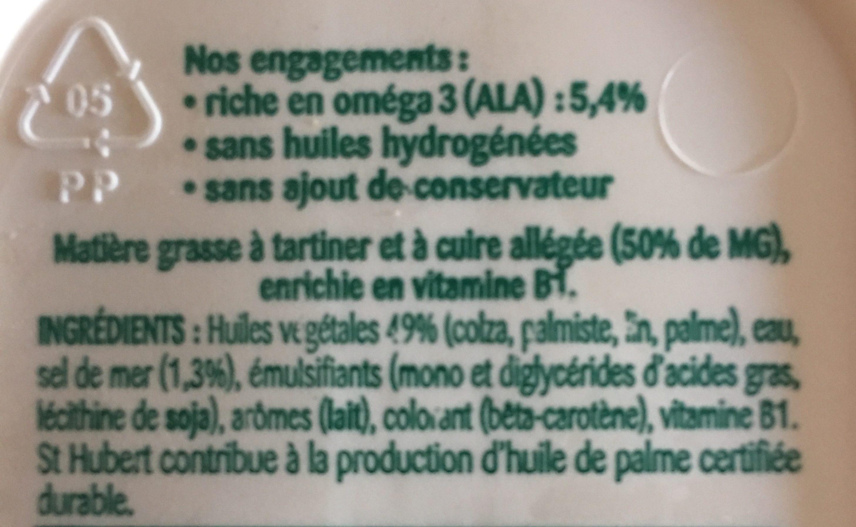St Hubert omega3 demi sel - Ingrédients - fr