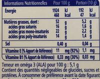 Oméga 3 doux - Informations nutritionnelles - fr