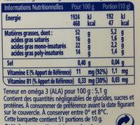 Matière grasse a tartiner - Informations nutritionnelles - fr