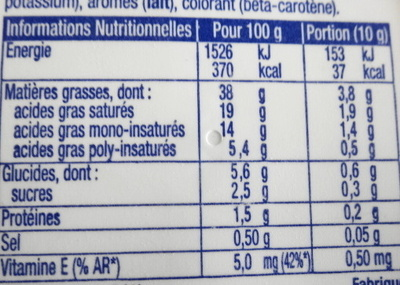 St Hubert 41 (38 % MG) - Nutrition facts