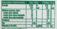 St Hubert Pur Végétal Doux - Informations nutritionnelles - fr