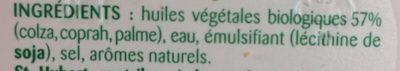 St Hubert Bio (Doux, Tartine et Cuisine), (58 % MG) - Ingredients