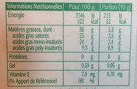 St Hubert Bio (Doux, Tartine et Cuisine), (58 % MG) - Nutrition facts