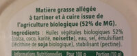 St Hubert bio doux pour tartine et cuisine - Ingrediënten - fr