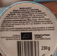 St Hubert Bio demi sel sans huile de palme - Ingredienti - fr