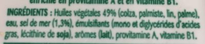 Oméga 3 Demi-sel Tartine & Cuisson - Ingrédients - fr