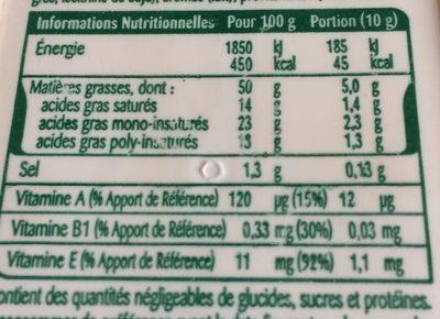 Oméga 3 Demi-sel Tartine & Cuisson - Informations nutritionnelles - fr