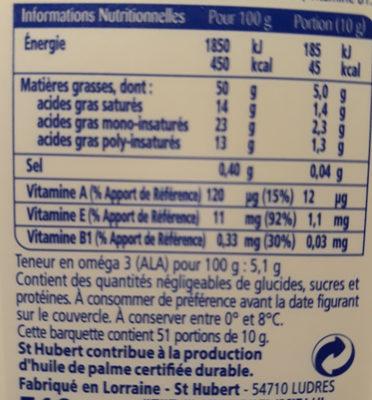 Omega 3 - Informations nutritionnelles - fr
