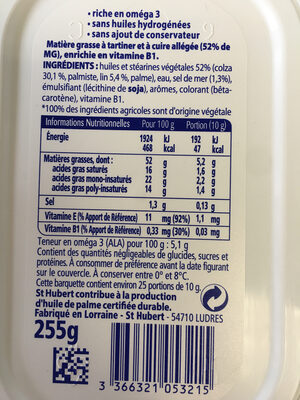 st hubert Omega 3 doux - Ingredients