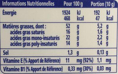 St Hubert Omega 3 demi-sel - Informations nutritionnelles - fr