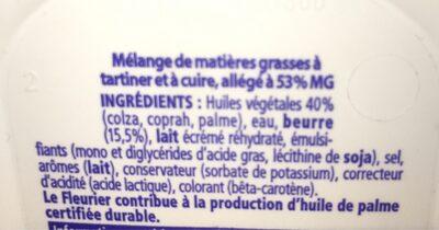 Matière grasse à tartiner - Ingredients