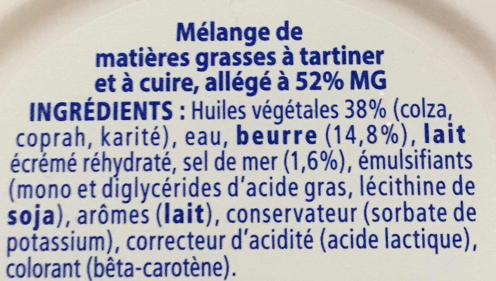 Beurre - Ingrédients