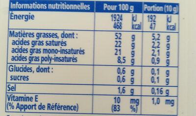 Le Fleurier demi-sel - Nutrition facts
