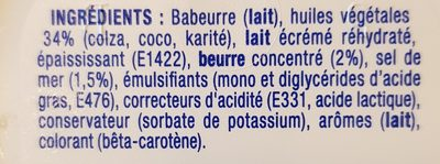 St Hubert 41 sans huile de palme sel de mer - Ingredients