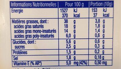 St Hubert 41 demi sel sans huile de palme - Valori nutrizionali - fr