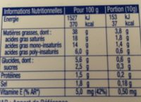 St Hubert 41 sans huile de palme sel de mer - Nutrition facts