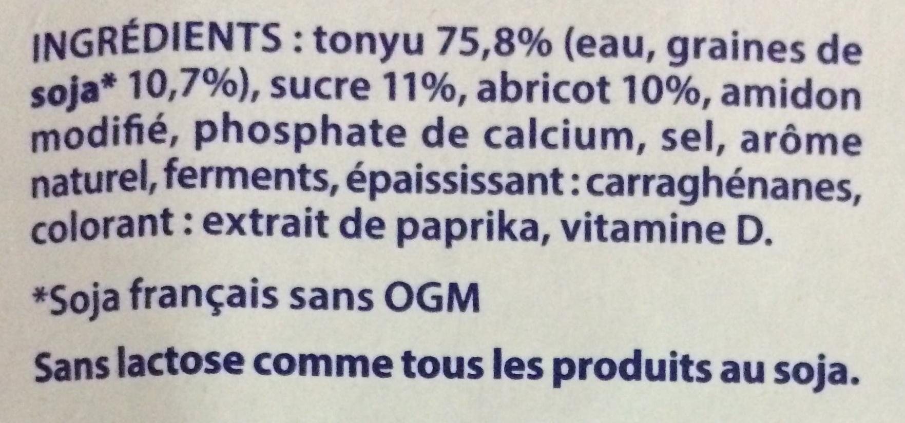Les Petits Plaisirs Soja Morceaux d'Abricot - Ingrédients - fr