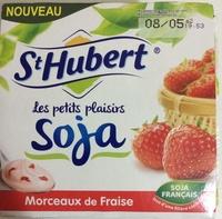 Les petits plaisirs Soja Morceaux de fraises - Produit - fr