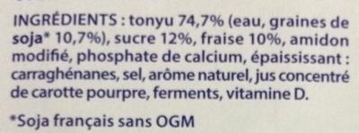 Les petits plaisirs Soja Morceaux de fraises - Ingrédients - fr