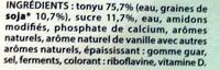 Les Petits Plaisirs Soja Vanille - Ingrédients - fr